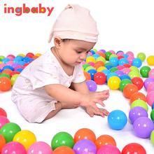 1pc New Diameter 5.5cm Thick Green Plastic Sea Ball Safety Multi-color Toy Ball Ocean Ball Pool Toy Free Shipping WJ811 ingbaby