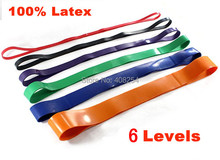 6pcs Pack EMS/DHL Shipping Pull Up Dips Body Building Bands Crossfit Exercise Strength Training Resistance Loop Band Yoga Pilate(China)