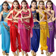 Bollywood Dance Costumes Indian Belly Dance Costumes 2 Pieces Pants And Top Bra Set For Women