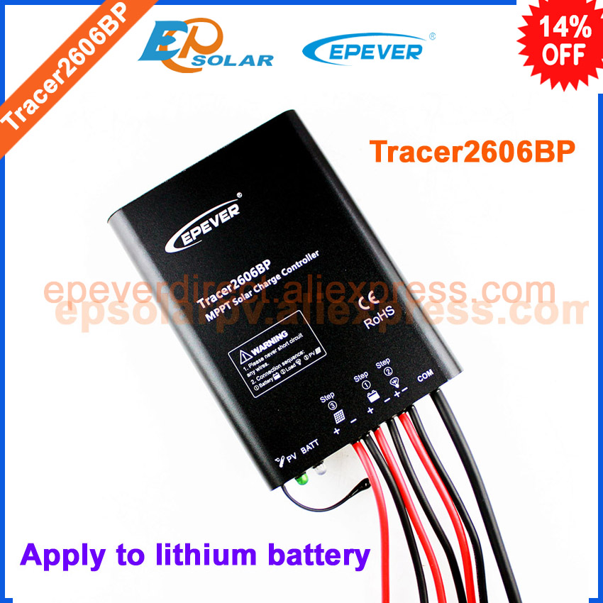 Tracer2606BP New BP series MPPT EPEVER solar controller charging regulator for lithium battery apply use 10A 10amp<br>