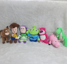 6pcs/lot New Original Bonecos Toy Story Plush Toys (Woody,Buzz,Bullseye,Lotso Bear, Alien,Rex Dinosaur,Hamm Pig) Doll 19~28cm