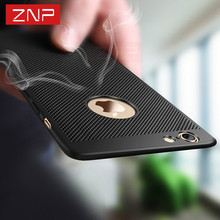 ZNP Heat dissipation phone hard Back PC cover Case For iPhone 7 7 plus 6s Cases Full Cover For iPhone 6 6s Plus 7 Protect shell(China)