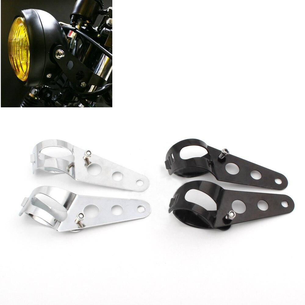 New Adjustable Headlight Mount Bracket Lamp Holder for Harley Bobber Universal