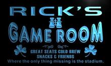 x0194-tm Rick's Skybox Game Room Custom Personalized Name Neon Sign Wholesale Dropshipping On/Off Switch 7 Colors DHL(China)