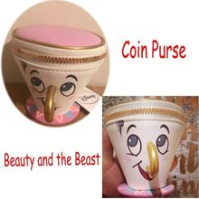 Disney In Stock PRIMARK  Beauty and The Beast Chip Coin Purse 3D Cup Trinket Bag Toys for Women Gift
