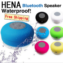 HENA Big Discount High quality waterproof bluetooth speaker sucker,car wireless speakers,handsfree speaker box ,bathroom speaker(China)
