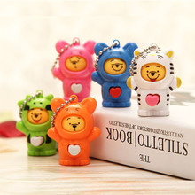 2017 New Mask-Changing Plastic Cute Mini Animal Dolls Decoration Keychain Creative Model Made A Face Action & Toy Figures Puppet(China)