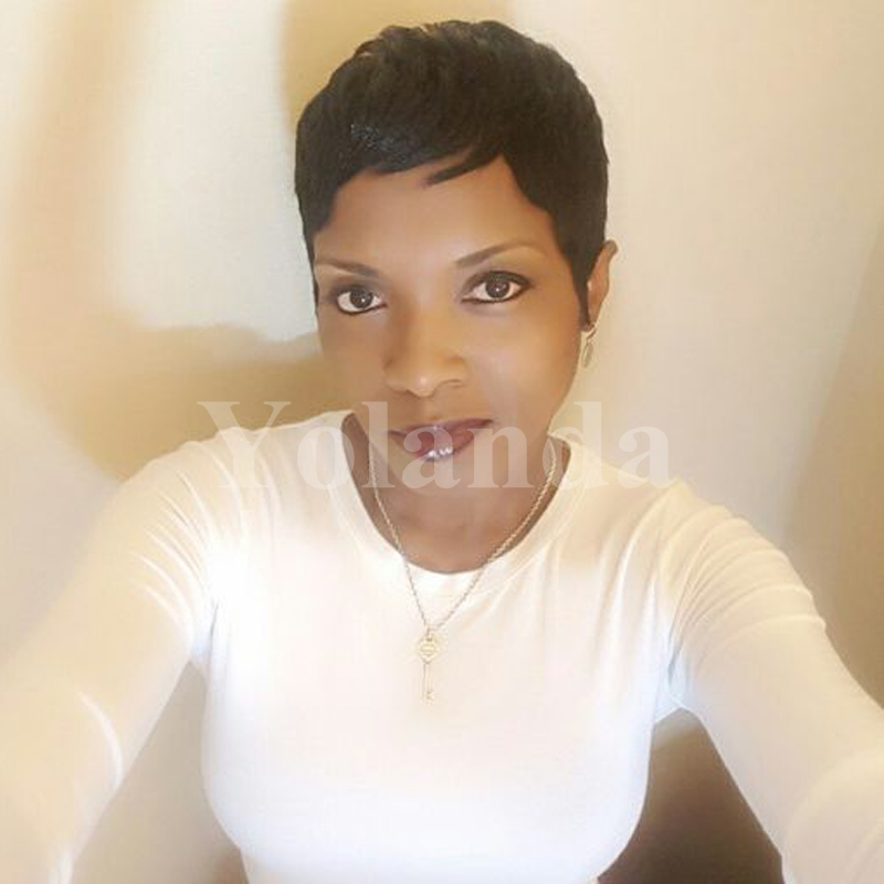 2017 New glueless full lace human short hair wigs for black women brazilian short hair lace front bob wigs for african americans<br><br>Aliexpress
