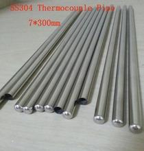 Customized 7*300mm Grade A Quality SS304 One End Closed Stainless Steel Pipes  Thermocouple Protection Tube  22 pcs / lot