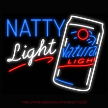 Neon Sign Natty Light Natural Light Beer Real Glass Tube Handcrafted neon signs Custom Neon Lamp Recreation Windows Signs 31x24