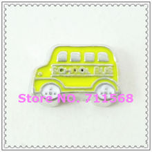 School Bus Floating Charm Yellow Bus Charm For Glass Floating Locket Accessories DIY Floating Charms(China)