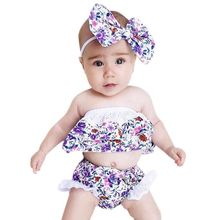 2017 Baby Carters Girls Clothing Set 2 PCS Set Purple Floral Edge Cotton Printed Tops + Pants
