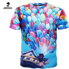 2016 Men Leisure 3D Colored Balloons Printer Creative T-Shirt 3d Printed Short Sleeve T Shirt Tees Tops Tshirt Homme Size XXXL