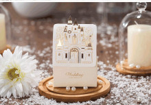 New brand Love house Wedding favors Castle candy box Bridal Marriage Party Candy Craft Paper  50pcs