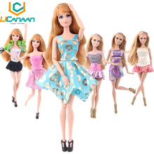 Randomly Pick Barbi Clothes A Lot = 10 Sets Fashion Lady Outfit Wear Blouse Trousers Shorts Pant Skirt Clothes for Barbi Doll