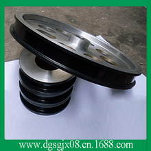 spraying ceramic guide pulley  (oxygen, hard chromium, hard rubber wheel]