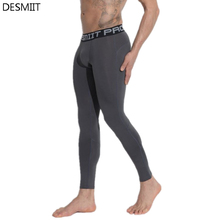 DESMIIT Brand Running Tights Men Sports Leggings Yoga Basketball Fitness Gym Skins Compression Sexy Jogging Pants Football 2017