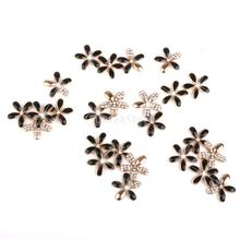 DIY Bling cell Phone Case Deco den kit Crystal Cabochon flower finding 25pcs(China)
