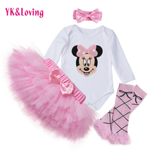 2017 Fashion Brand Newborn Baby Girl Clothing Set Printed Cotton bodysuits Pink Lace Skirt Sets Infant Clothes - YK&Loving Official Store store