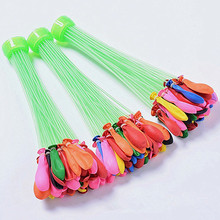 XUN ZHE Water Balloon 3 Bunches=111pcs Quickly Filling   water balloons  pump summer beach toys for children Water War