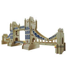 London bridge wood Puzzle toy model 3 d puzzles handmade assembled wooden puzzle toys kids gift toy