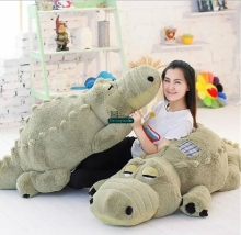 Dorimytrader 85'' / 215cm Biggest Soft Plush Cute Stuffed Large Animal Crocodile, Alligator Toy 4 Colors Free Shipping DY60641