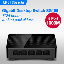 Tenda SG105 Mini 5 Port Gigabit Ethernet Switch,1000Mpbs Fast Ethernet Network Switches , LAN Hub,  Full or Half duplex Exchange