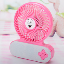 Portable Wireless Bluetooth Speakers Mini Desk Fan Cooling Tri Gear Adjustment Free Shipping Support SD Card(China)