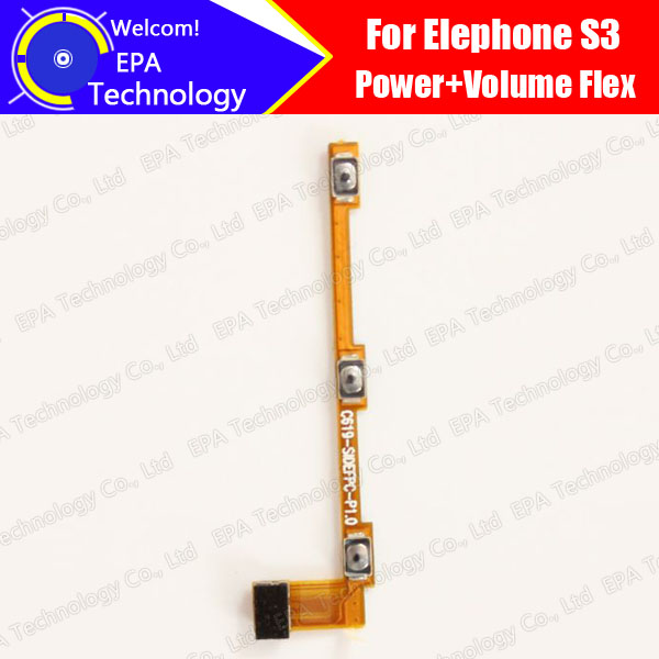 Elephone S3 Side Button Flex Cable 100% Original New Power + Volume up/down Button FPC Wire Flex Cable repair accessories S3