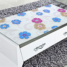 1PCS HOT Transparent Tablecloth Color PVC Tablecloth Soft glass Waterproof And Oilproof Insulation Crystal Coffee Table Mat