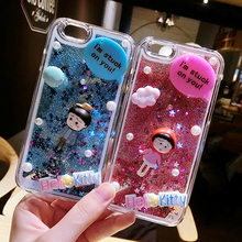 For Xiaomi Redmi Note Redmi Note 2 Redmi Note 3 Quicksand Dynamic Liquid Glitter Sand Back Cover Lovely Cartoon Doll Phone Case