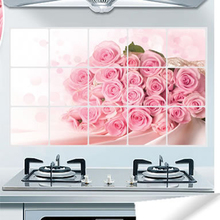 Kitchen Water Oil Proof Sticker Papers Decals Practical Kitchen Wall Aluminum Sticker