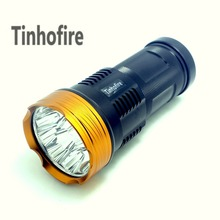 Tinhofire 20000 lumens light King 10T6 LED flashlamp 10 x CREE XM-L T6 LED Flashlight Torch Lamp Light For Hunting Camping(China)