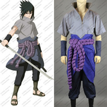 Naruto Uchiha Sasuke 4 Party Fashion Christmas Hallowmas Anime Clothing Cosplay Costume+shoes Any Size Free Shipping