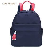 Let It Be Fashion Oxford Nylon Backpacks For Women Bookbag Premium Tassel Backpack School College Female Girls bagpack Mochila(China)