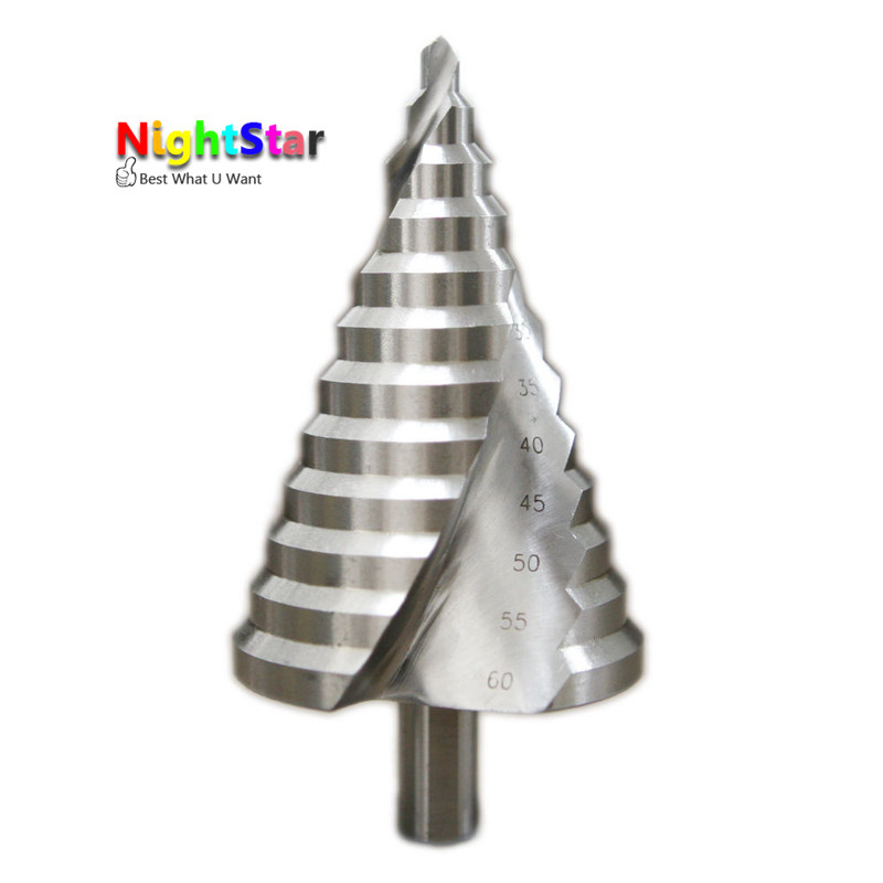 HSS Step Drill Bits 6mm-60mm cylindrical shank Woodworking Power Tools Shank<br>