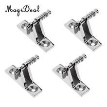 MagiDeal 4Pcs Premium 316 Stainless Steel Marine Boat Canopy Deck Hinge Mount 90 Degree Fitting Removable Quick Release Pin(China)
