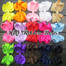 "Toplay 30pcs/lot 4.5"" Large Twisted Girls Ribbon Hair Bows Grosgrain For Children Hair clips Accessories Kids Boutique Bows"