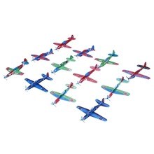 12Pcs Throw Flying Glider Planes Foam AeroplaneDIY Hand Model Party Bag Fillers Flying Glider Plane Toys For Children Kids Game(China)