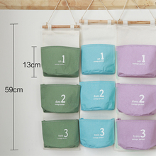New Useful Creative 3 pocket Wall Mounted Storage Bags supplies Home Storage supplies Fluid Systems Multilayer Pouch(China)