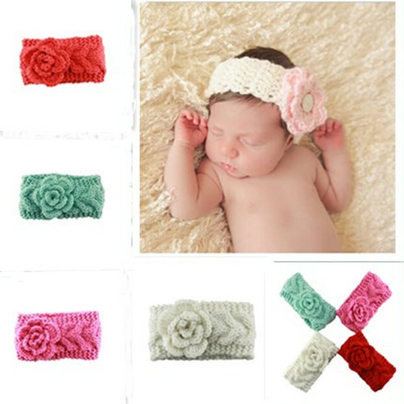 Fashion Baby Knit Headband Crochet Headband with flower kids head wear hair accessories On Sale<br><br>Aliexpress