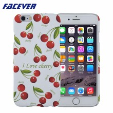 Hot Sale Summr Fruit Peach Cherry Phone Case For iPhone 6 6S Plus Fashion Cute Printed Hard Plastic Matte Cover Fundas Coque