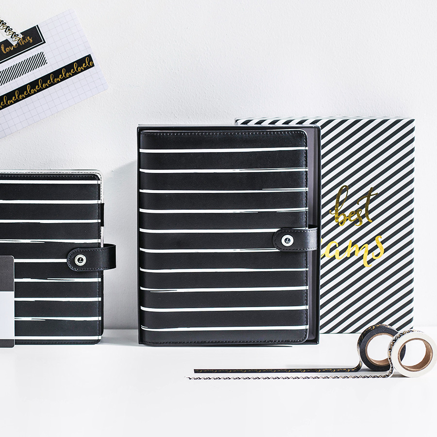 Dokibook Striped A5a6 Spiral Notebook Personal Planner Organizer Diary Binder Schedule Book Stationery Office &amp; School Supplies<br>