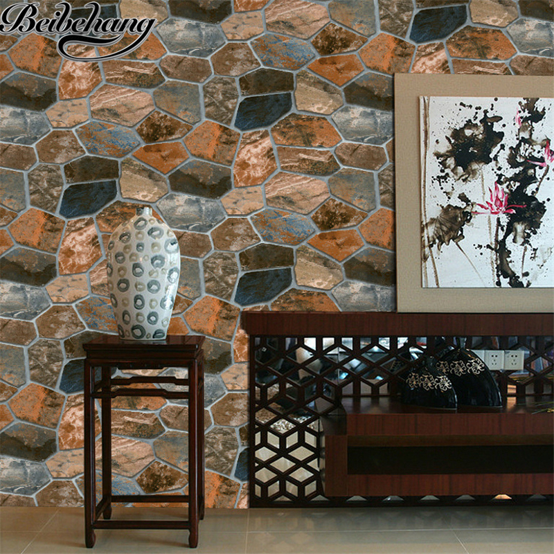 beibehang simulation rock stone wall culture stone wallpaper personalized coffee shop bar restaurant wallpaper papel de parede <br>