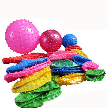 New Thick Inflatable Beach fitness massage ball toys for children random one piece(China)