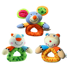 Bedtime Educational Baby Animals Toys New Born Kids Toy Bed Gift Bell Ball Sound Educational Crib Rattle FL