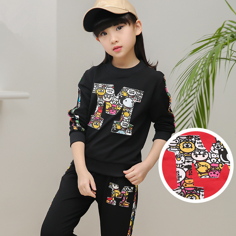Cartoon Clothes Sets for Girls Casual Tracksuits Fashion Tops+Pants Suits Outfits Kids Clothing Set Children Costumes 3-12 Suits<br><br>Aliexpress