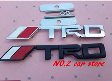 10set Free shipping TRD logo Metal Car Front Hood Grill Badge Grille Emblem Logo stickers auto accessories(China)