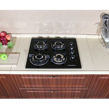 "Brand New 24"" Glass Built-in Kitchen 4 Top Burner Gas Hob Cooktop Cooker 3.3KW(China)"