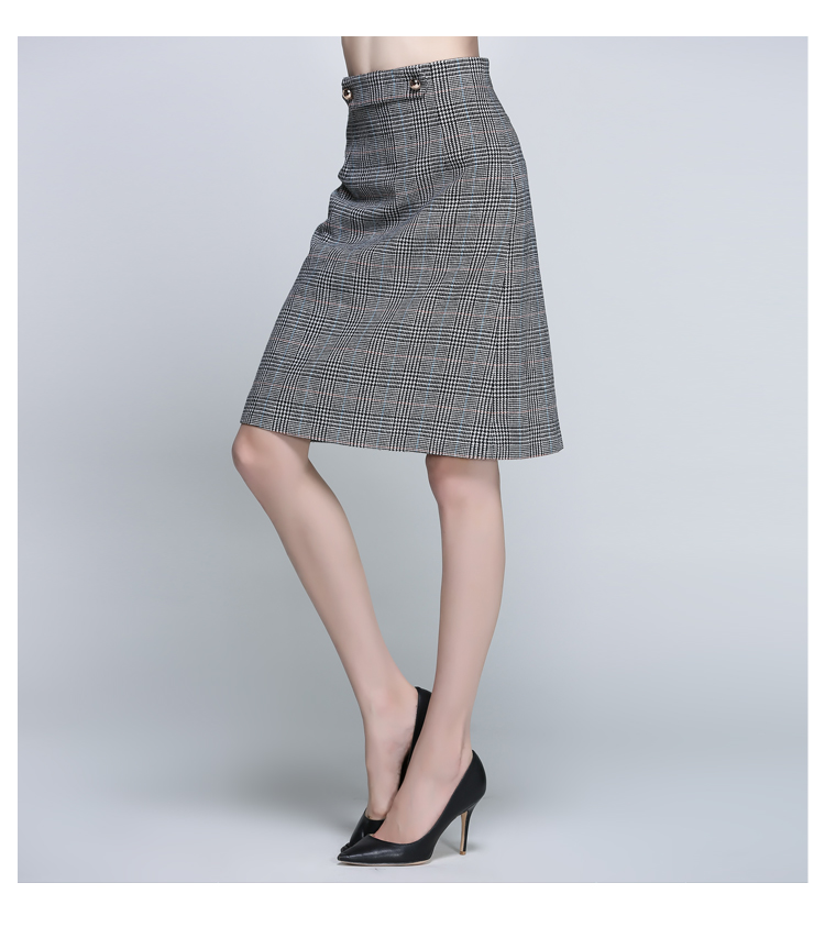 Women Houndstooth Skirt (9)